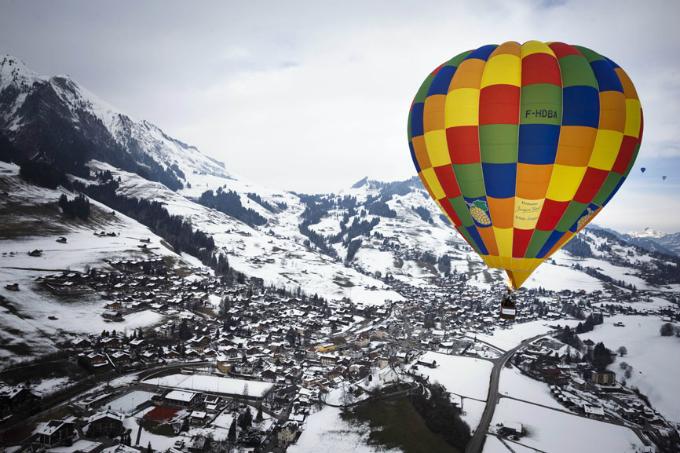 Chateau-d'Oex  Die wunderbaren Berglandschaften in den Alpen Chateau d   Oex