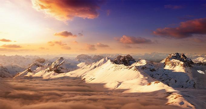1000 ft über die Schweizer Alpen. Foto: Dominic Kamp  Die wunderbaren Berglandschaften in den Alpen Die wunderbare Berglandschaftden in den Alpen