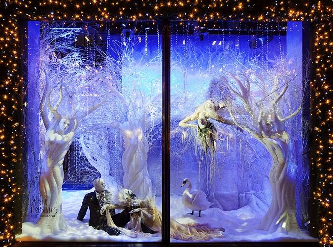 Swarovski, Harrods, London  Die schönsten Schaufenster zu Weihnachten Die sch  nsten Schaufenster zu Weihnachten Harrods Swarovski