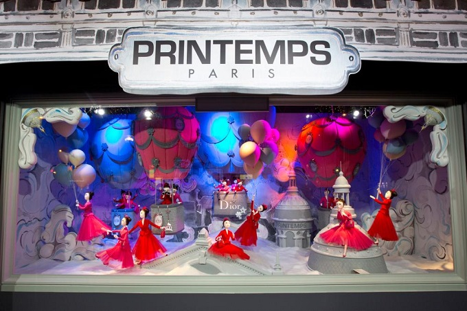 Printemps Haussmann, Paris  Die schönsten Schaufenster zu Weihnachten Die sch  nsten Schaufenster zu Weihnachten Printemps Dior