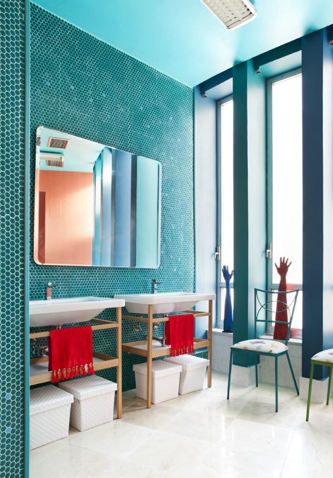 Wohnideen Badezimmer blaue Farbe  Wohnideen für luxuriöse Badezimmer Wohnideen Badezimmer blaue Farbe1