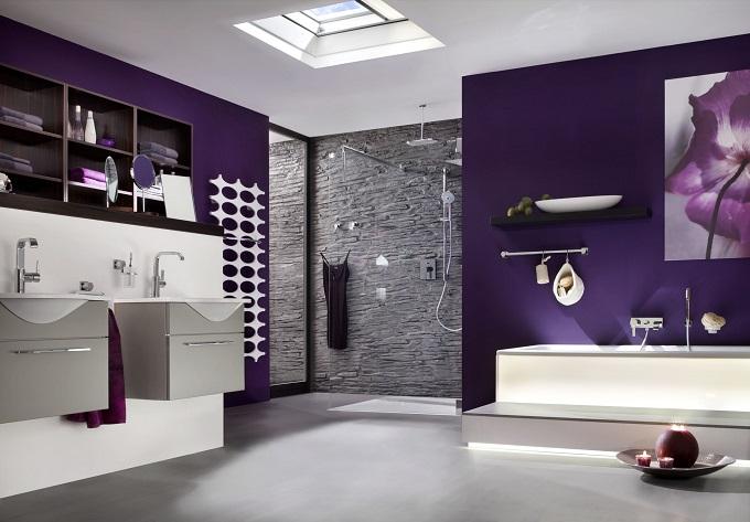Lila | Wohnideen für luxuriösem Badezimmer  Wohnideen für luxuriöse Badezimmer Wohnideen Badezimmer lila Farbe