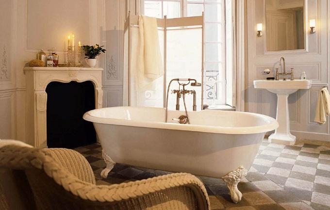 Retro   Wohnideen für luxuriösem Badezimmer  Wohnideen für luxuriöse Badezimmer Wohnideen Badezimmer retro stil