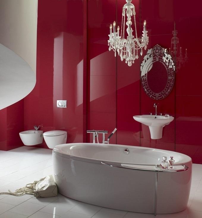 Rosa   Wohnideen für luxuriösem Badezimmer  Wohnideen für luxuriöse Badezimmer Wohnideen Badezimmer rosa Farbe
