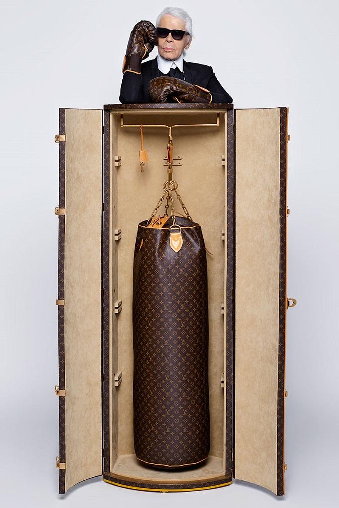 Karl Lagerfelds neu Design für Louis Vuitton  Karl Lagerfelds neu Design für Louis Vuitton karl lagerfeld louis vuitton Boxhandschuhe