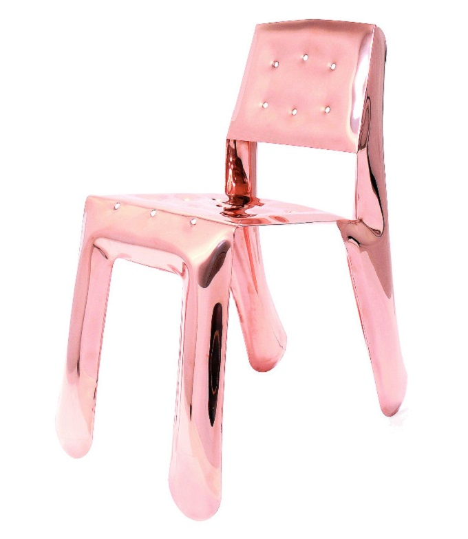 """""""Chippen steel Chair"""" Von Oskar Zieta  Kupfer ist das neue Schwarz: Farbtrend für 2015 Kupfer ist das neu schwarz Chippensteel Chair Oskar Zieta"""
