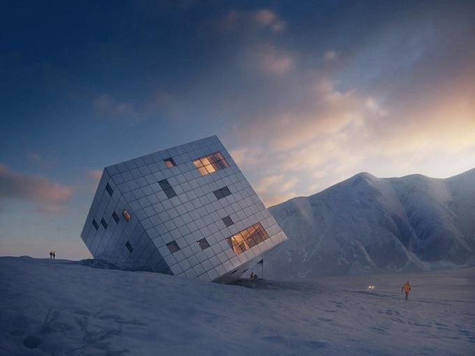 Der Eiswürfel vom Architekturbüro Atelier 8000