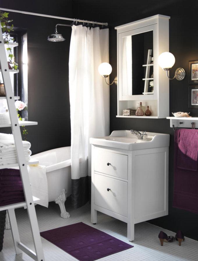 Badezimmergestaltung in Anthrazit, Violett und Weiß | 7 Ideen Für Kreative Badezimmergestaltung  Ideen Für Kreative Badezimmergestaltung Kreative Badezimmergestaltung 1