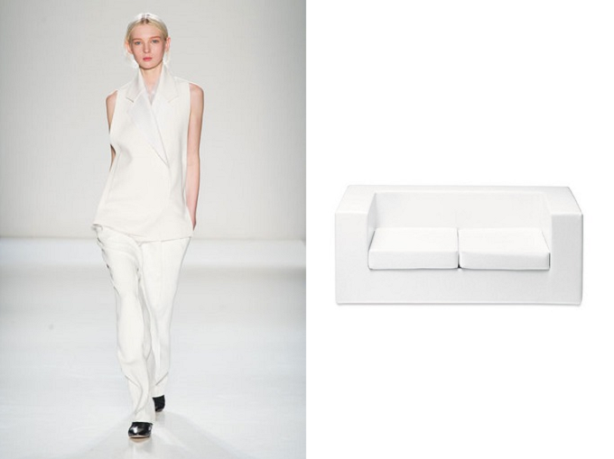 Weiß - Gerade Schnitte und minimalistische Formen  Wohnideen von Fashion-Trends Wohnideen von Fashion Trends weiss