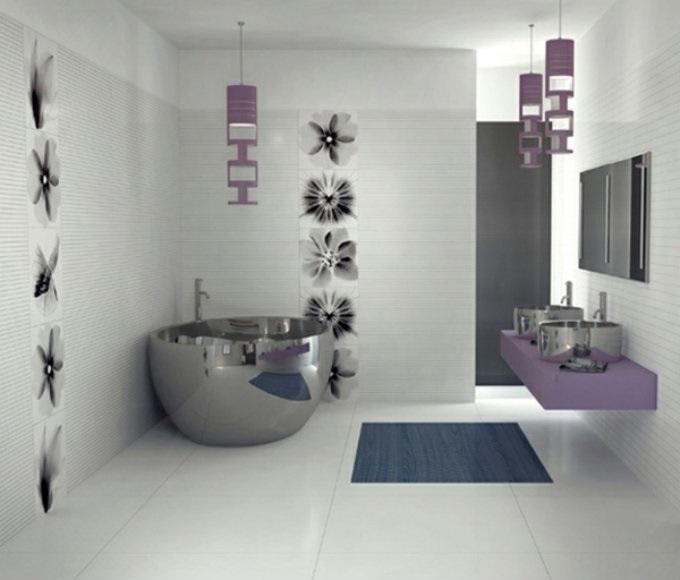 Badfliesen geben dem Badzimmer einen zärtlichen Look | 7 Ideen Für Kreative Badezimmergestaltung  Ideen Für Kreative Badezimmergestaltung badezimmer Badfliesen Kreative Badezimmergestaltung