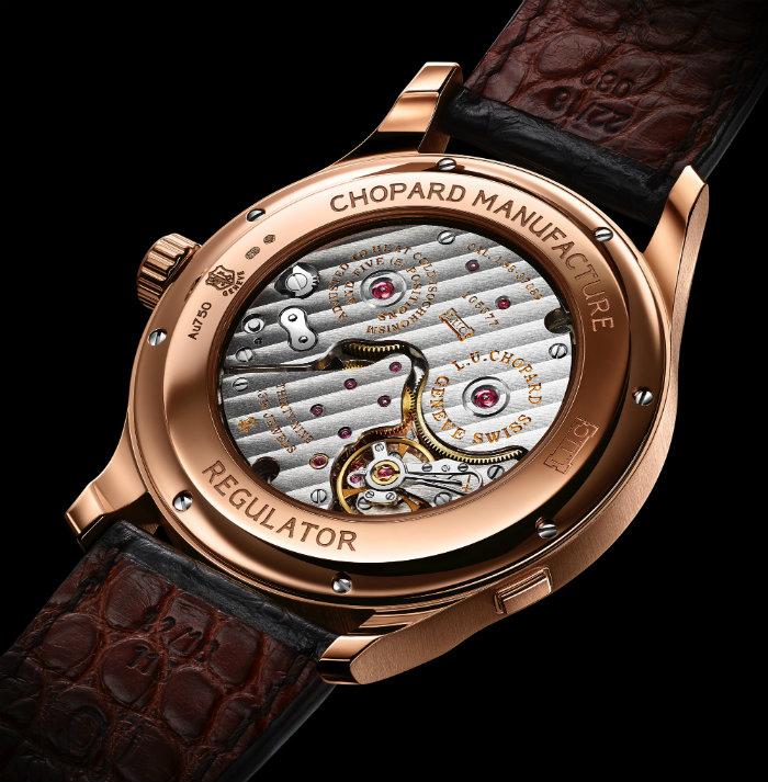 Die Weltmesse für Uhren auf der Baselworld 2015  Die Weltmesse für Uhren auf der Baselworld 2015 Wohnen mit klassikern Die Weltmesse f  r Uhren auf der Baselworld 2015 Chopard LUC Regulator caseback