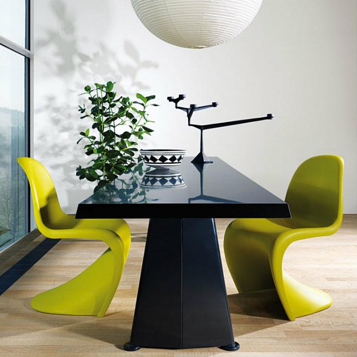 klassisch wohnen panton stuhl wohnen mit klassikern. Black Bedroom Furniture Sets. Home Design Ideas
