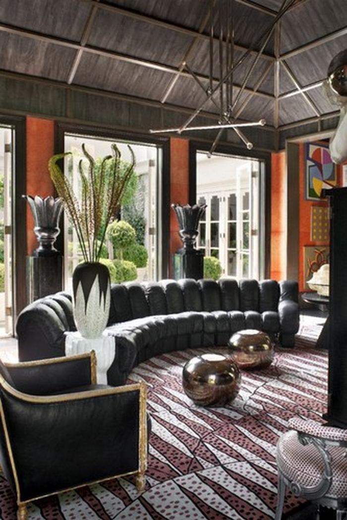 Kelly-wearstler-living-room-Sofa  Top 10 Sofas für ein modernes Wohnzimmer 8 kelly wearstler living room Sofa 23