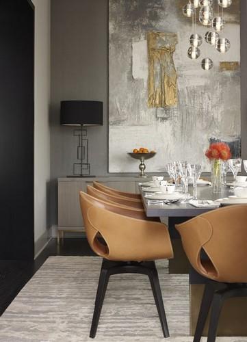 Stühle mit Lederbezug für den Esstisch  Stühle mit Lederbezug für den Esstisch Modern Leather Dining Chairs 12