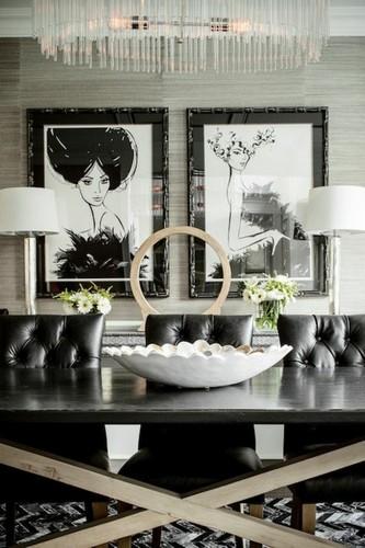Stühle mit Lederbezug für den Esstisch  Stühle mit Lederbezug für den Esstisch dining chair ideas in dark leather 32