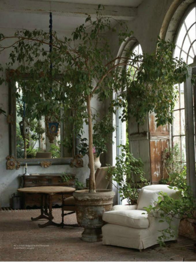 Axel-Vervoordt-Garden-Living-Room  25 Beste Interior Design Projekte von Axel Vervoordt Axel Vervoordt Garden Living Room