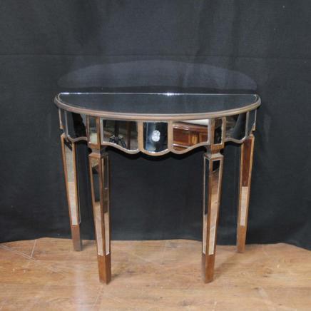 Gespiegelt-Konsolentisch-Art-Deco-Demi-Lune-Tabellen  Top 20 Messing-Konsolen Gespiegelt Konsolentisch Art Deco Demi Lune Tabellen