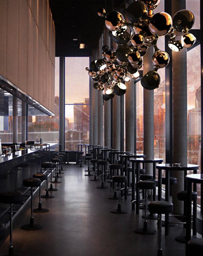 atomic-sputnik-multi-light-sculptural-sphere-pendant-chandelier-03  Eine Vorschau auf: Light + Building 2016 in Frankfurt atomic sputnik multi light sculptural sphere pendant chandelier 031