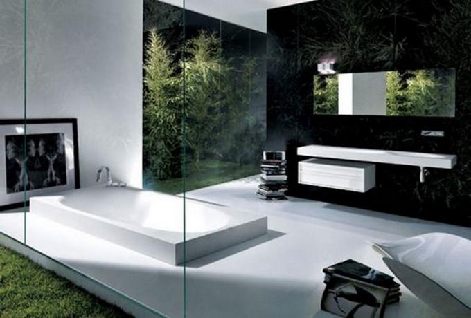 Schwarze moderne Badezimmergestaltung  20 Schöne Badezimmergestaltung 20 Sch  ne Badezimmergestaltung 10