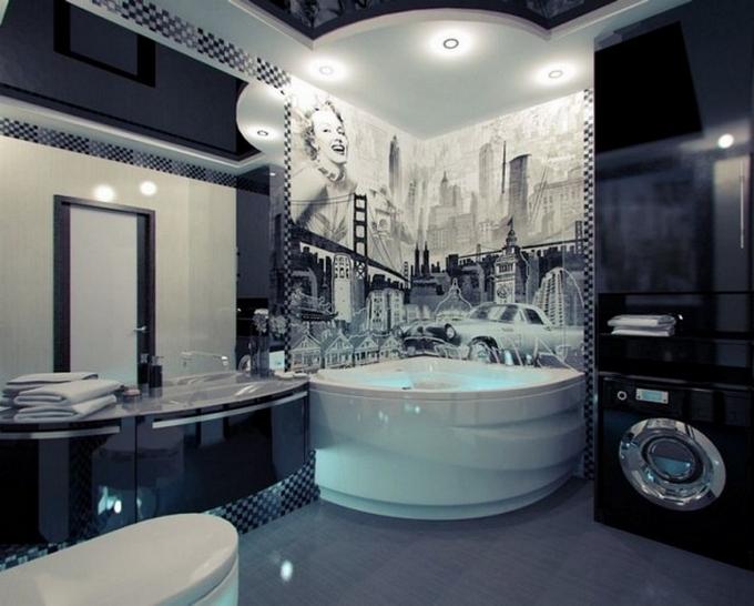 Schwarze moderne Badezimmergestaltung  20 Schöne Badezimmergestaltung 20 Sch  ne Badezimmergestaltung 11