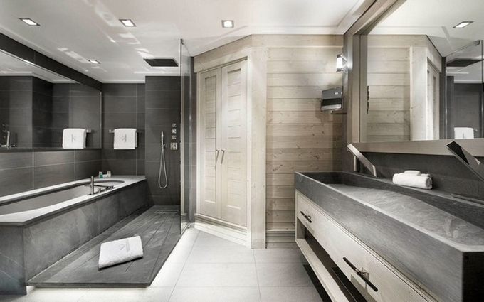 Schwarze moderne Badezimmergestaltung  20 Schöne Badezimmergestaltung 20 Sch  ne Badezimmergestaltung 12