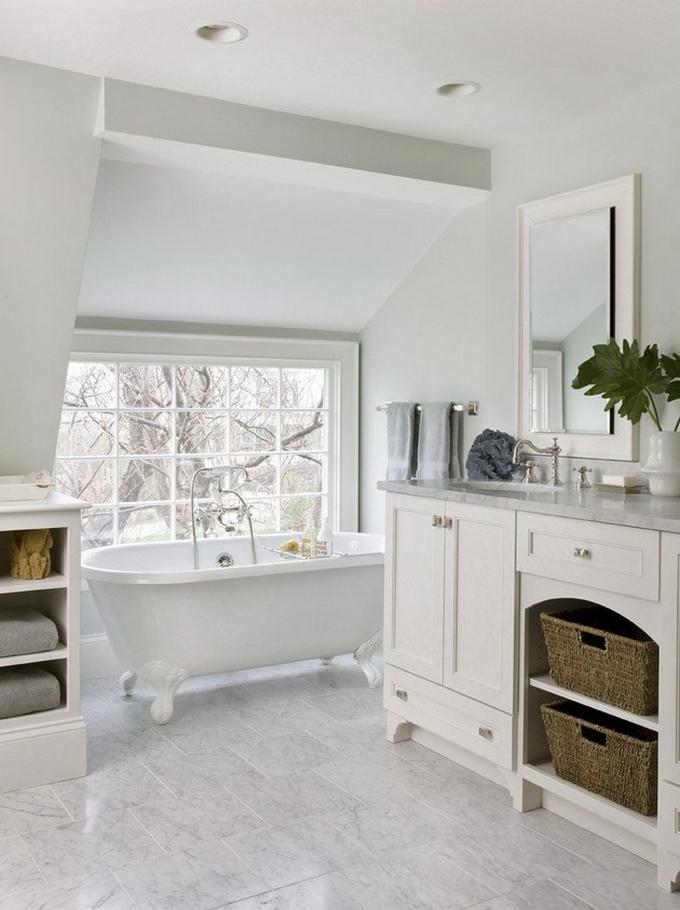 Weiße Klassische Badezimmergestaltung  20 Schöne Badezimmergestaltung 20 Sch  ne Badezimmergestaltung 41