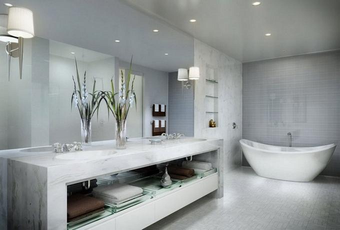 Weiße moderne Badezimmergestaltung  20 Schöne Badezimmergestaltung 20 Sch  ne Badezimmergestaltung 42
