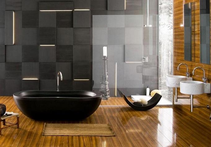 Schwarze moderne Badezimmergestaltung  20 Schöne Badezimmergestaltung 20 Sch  ne Badezimmergestaltung 7