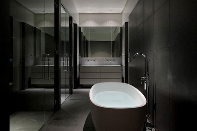 Schwarze moderne Badezimmergestaltung  20 Schöne Badezimmergestaltung 20 Sch  ne Badezimmergestaltung 8