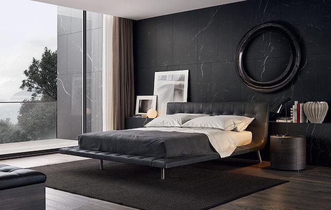 Double Bed / Contemporary / Upholstered / Leather 10 Moderne  Nachtschränkchen Für Einen Luxusschlafzimmer   Sommer