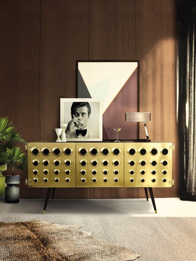 So dekorieren Sie Ihr Haus im Retro Stil retro stil So dekorieren Sie Ihr Haus im Retro Stil delightfull monocles vintage retro urban wood brass sideboard 01