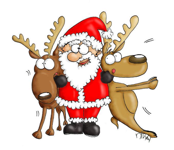 10 Gründe warum es schon Vorweihnachtszeit ist vorweihnachtszeit 10 Gründe warum es schon Vorweihnachtszeit ist gross 09 weihnachtsmann rentiere umarmung