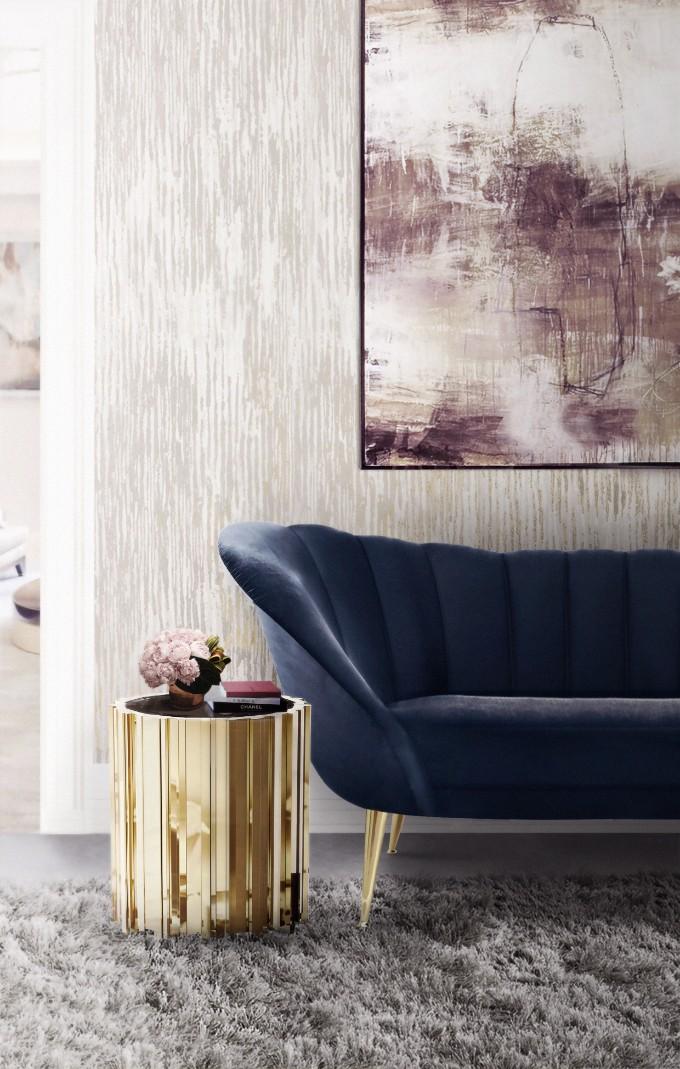 Wohnzimmer mit blaue Töne – Neue Trends – Wohnen mit Klassikern