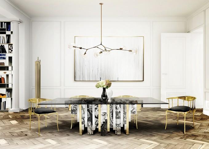 Luxuriöse Esszimmer für den Herbst, Herbst design, Herbst Inpirationen, Herbst/winter herbst 2017 Herbst 2017: Luxuriöse  Esszimmer für den Herbst BL Project Paris Apartment 8