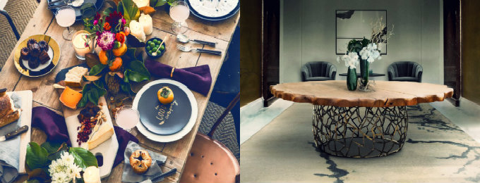 esszimmer Wohndesign-Ideen für den Herbst: Wie Sie Ihres Esszimmer diesen Herbst gestalten kann collage 2