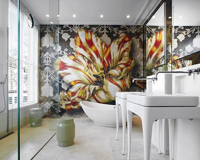 einrichtungsideen design 9 ERSTAUNLICHE EINRICHTUNGSIDEEN DESIGN VON MARCEL WANDERS Bathroom Mosaic Private Residence Amsterdam
