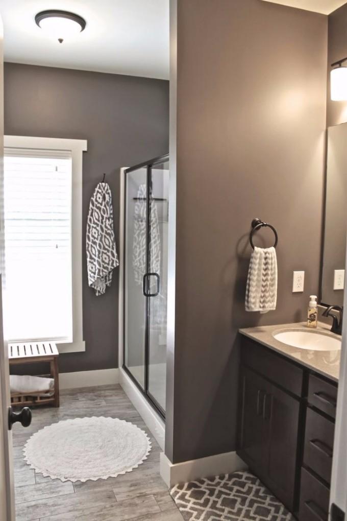 Top Wohndesign 2017 Pins auf Pinterest Teil 1 taupe wandfarbe badezimmer dusche schiebetueren bodenfliesen holzoptik
