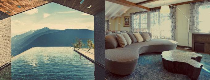 luxus chalets Atemberaubende Luxus Chalets für Winterurlaub in der Natur collage 1