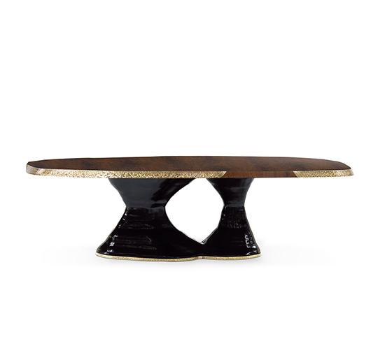 moderne möbel Sessel  Samt, Holz und Messing. Die perfekte Designmaterial Kombination plateau dining table 3 540x505