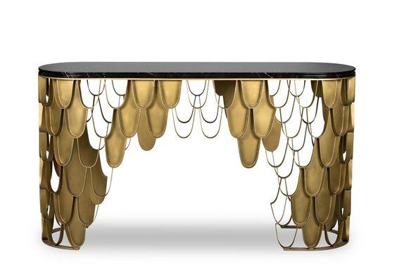Samt, Holz und Messing. Die perfekte Designmaterial Kombination 4