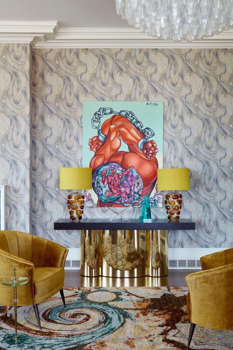 künstlerisches projekt Künstlerisches Projekt von Ananiev Interiors mit BRABBU Green2672