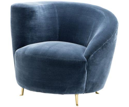 Imm cologne: Was werden die beliebtesten Samtsessel sein? Samt Sessel Blau Beautiful Designer Sessel Aufblasbarer Sessel 1